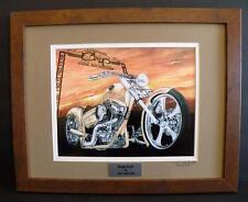 Motorcycle Art Sturgis Biker Rally Ltd Ed Signed Framed Art Print by Guillemette