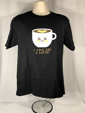 I LOVE YOU A LATTE T-Shirt (XL) Think Geek Exclusive NWT Thinkgeek Valentines