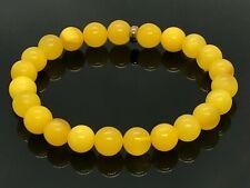 Amber BRACELET Natural Baltic Amber Round Beads Egg Yolk Yellow Ladies 6,1g A119