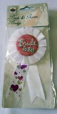 bride to be white award ribbon badge hens night accessory bridal shower pink