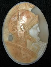 Vtg GORGEOUS CARVED CAMEO - Loose ROMAN SOLDIER for Pendant/Brooch 37x50mm-Nice