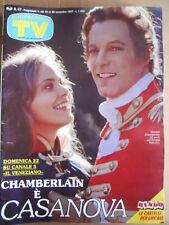 TV Sorrisi e Canzoni n°47 1987 Ornella Muti Richard Chamberlain Casanova [D41]