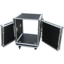 "Flightcase 12he 19"" roles bluewheels perforados V + H 9mm multiplex rack Case"