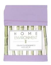 New NIP Home Environment Bamboo Sheets Set Lavender Queen Silky Soft Ret. $375