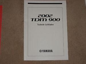 Yamaha TDM 900 Manuel Technique Leitfaden Instructions de Maintenance Atelier