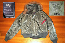 ALPHA INDUSTRIES FLIGHT JACKET FLYING MANS HEAVY PARKA  w/  HOOD N2-B  XL