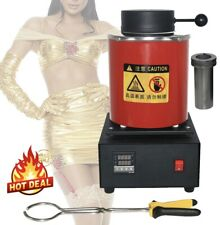 220V 3KG Capacity Gold Electric Melting Furnace with Graphite Crucible Plier EU