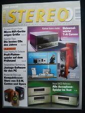 STEREO 1/09 B&W 805s,CANTON VENTO REF.9.2,OPERA CALLAS,T+A CARUSO,STANTON ST 150