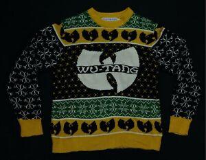 Rare VTG LIVE NATION Wu-Tang Clan 2017 Ugly Christmas Knit Sweater Rap Hip Hop
