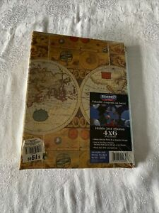 "NEW Travel Map Themed 10- 3/4"" X 8"" Slip In Photo Album Holds 204- 4x6"" Pictures"