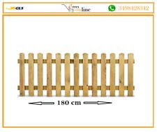 Steccato in Legno di Pino 100x180 Staccionata Doghe Recinzione Giardino Aiuole