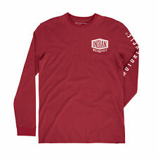 Genuine Indian Motorcycle Men's Long-Sleeve Shield Logo T-Shirt, S #286970602