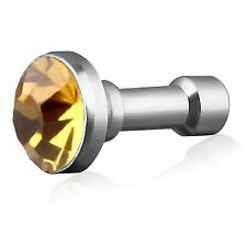 Tapon Antipolvo Jack 3.5 de Diamante COLOR ORO Samsung,Xperia,Apple,HTC,LG