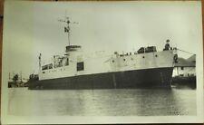 Isla de Pinos/Isle of Pines, Cuba 1930s Realphoto Postcard: Ship, Nueva Gerona
