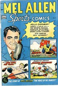 """Mel Allen Sports   # 5      VG    11/49    First issue  Tuska art    """"a"""" written"""