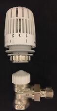 """Heimeier corner valve base DN10 3/8"""" + HEIMEIER Thermostatic head K white"""