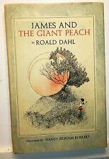 James and the Giant Peach, Roald Dahl, illus Burkert, 1961, Knopf - 1st ed.