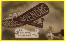 cpa  AVIATION Multiple BÉBÉ à VENDRE Le Bonheur arrive avec nous AIRPLANE BABYS