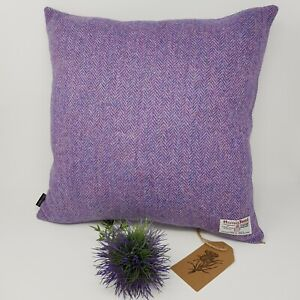 Purple Herringbone Harris Tweed cushion cover handmade genuine all sizes