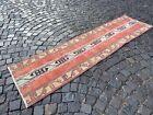 Patchwork runner rug, Handmade wool rug, Bohemian rug, Carpet | 2,1 x 8,0 ft