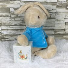 Beatrix Potter 2016 Plush Stuffed Peter Rabbit & 1989 Miniature 12 Book Set Lot