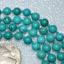 Hand Knotted Turquoise Prayer Beads Japa Mala Beads Yoga Necklace