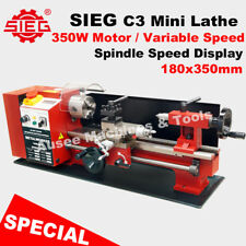 SIEG C3 / 180x350mm Variable Speed Mini Hobby Lathe with  Auto Feed