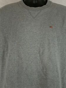Vintage Polo Jeans Company Ralph Lauren Sweat-shirt Gray Embroidered Flag Sz M