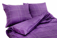 Elegante Satin-Bettwäsche 2 Combinate 6013 - line, 200x200cm - violett