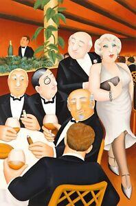 """""""The Baron Entertain"""" Beryl Cook Silkscreen L/ E  Print"""