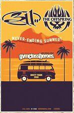 311 THE OFFSPRING Unity Tour 2018 Ltd Ed RARE Poster +FREE Rock Alt Punk Poster!