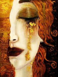 Gustav Klimt Freya's Tears Stretched Canvas Wal Art Poster Print Painting Artist