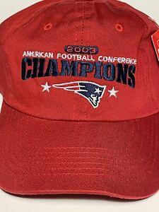 New England Patriots 2003 NFL AFC East Champions Hat RARE REEBOK Cap NEW Red