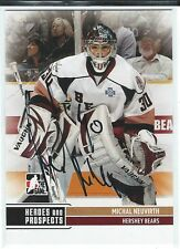Michal Neuvirth Signed 2009/10 Heroes and Prospects Card #31