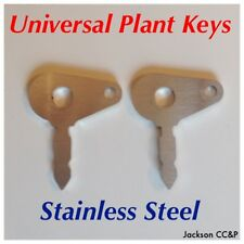 2x STAINLESS STEEL Universal Ignition Key for LUCAS 35670, JCB, Massey Ferguson