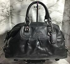 Coach Ashley Satchel  Black Leather Bag #15447