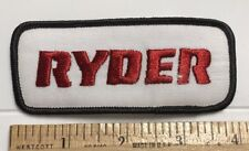 """RYDER Truck Lines RTL Trucking 4"""" Long Embroidered Patch"""