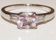 Morganite Engagement Oval Fine Gemstone Rings