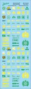 Street Racing Drift Decal 14  1/24 (180x60 mm) fluo yellow/green RA14-24-4