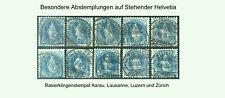 Schweiz Stehende Helvetia Rasierklingenstempel auf Zum. 73E