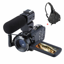 Z20 WiFi 24MP 1080P HD 16X Zoom DV Digital Video Camera Camcorder+Microphone+Bag