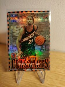 1996-97 Topps Stadium Club Gary Payton / Brent Barry Class Acts CA3 refractor
