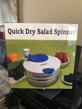 Salad Spinner Large 4.2 Quarts Serving Bowl Set - QUICK DRY DESIGN  DISHWASHER