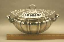 Antique American Gorham Sterling Silver Covered Vegetable Serving Dish / Bowl