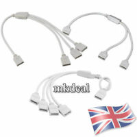 1 to 2/3/4 Way RGB Female Splitter Connector Cable Controller LED Strip Lights
