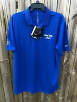 Nike Golf Dri-Fit Ford Embroidered Men's Short Sleeve Polo Size L Sapphire Blue
