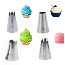 4x Large Stainless Steel Icing Piping Nozzle Pastry Tips Baking Mold Cake Decor