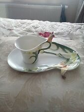 "GRAFF PORCELAIN ""BUTTERFLY"" CUP SAUCER AND SPOON - BOXED"