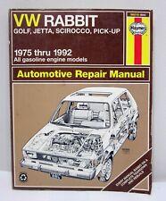 HAYNES VW Rabbit Golf Jetta Scirocco Pick-up 1975 - 1992 Auto Repair Manual
