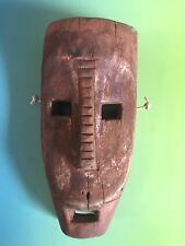 Vtg Antique Tribal Art Carved Wood Ceremonial Mask Antique Wooden Face Folk